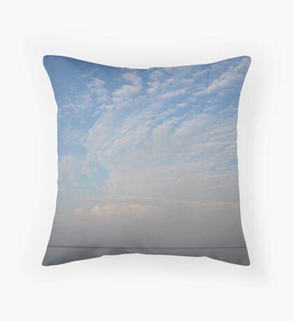 Guardian Angel Clouds Throw Pillow