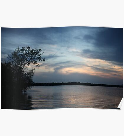 Lac LaBelle Sunset Poster