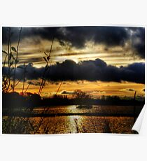 Yeadon Tarn Sunset 2 Poster