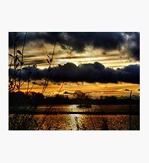 Yeadon Tarn Sunset 2 Photographic Print
