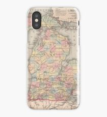 Vintage Map of Michigan (1857) iPhone Case