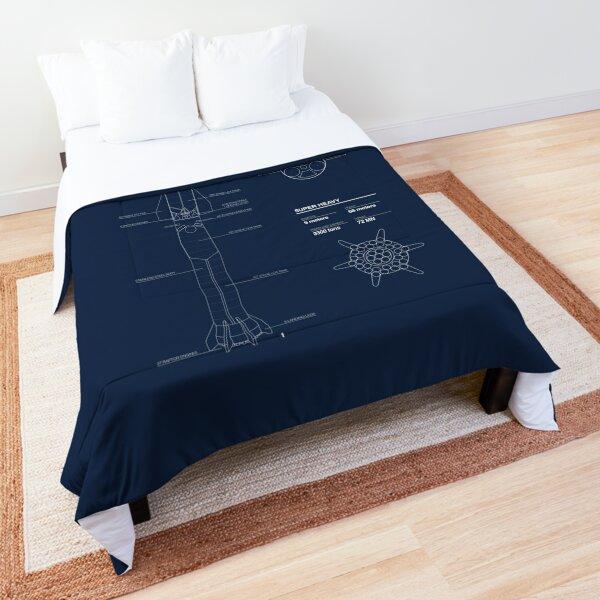 Starship SpaceX Blueprint 2020 Comforter