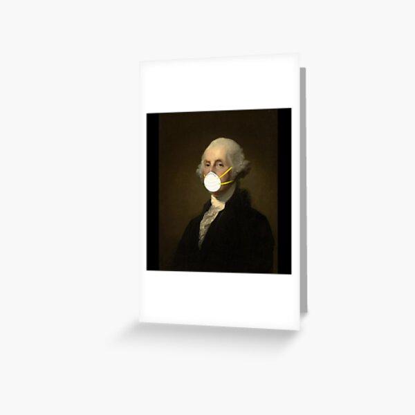 George Washington: Masked Greeting Card