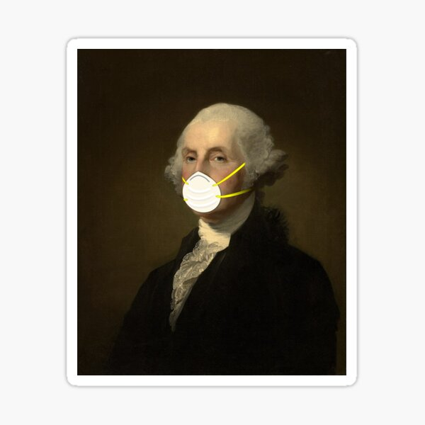 George Washington: Masked Glossy Sticker