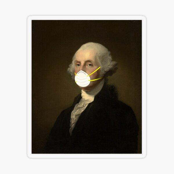 George Washington: Masked Transparent Sticker