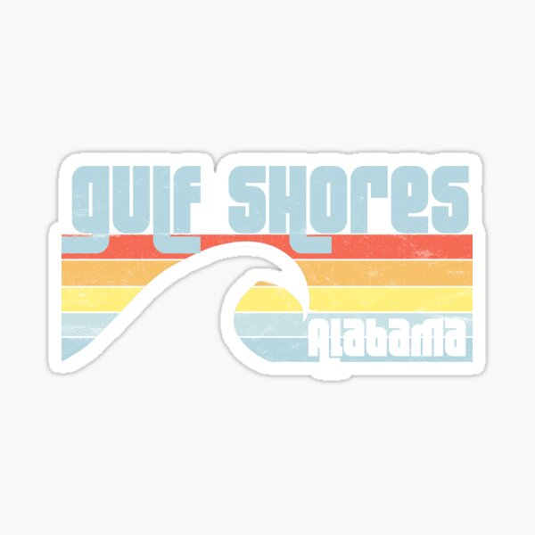 Gulf Shores Alabama Gulf Coast Sticker