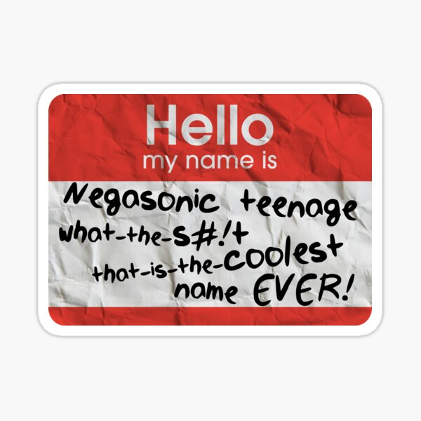 Étiquette de nom la plus cool de tous les temps Sticker