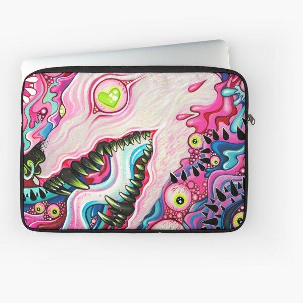 Glitterwolf Acrylic Painting Laptop Sleeve