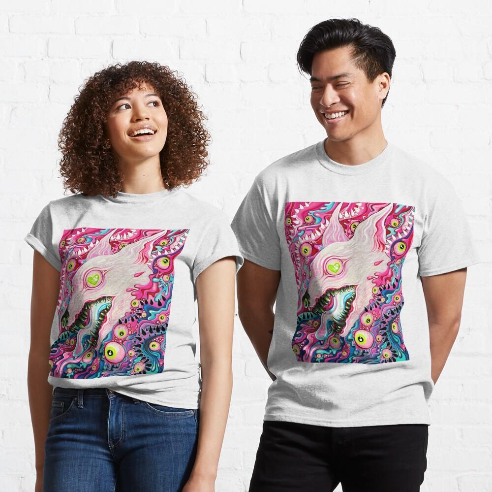 Glitterwolf Acrylic Painting Classic T-Shirt