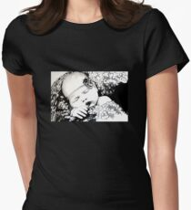 My Daughter, Grace - charcoal portrait, clothing, stickers, iphone case Womens Fitted T-Shirt