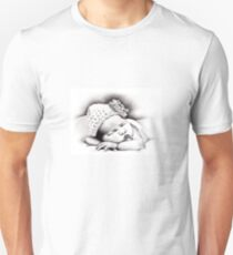 My Daughter, Grace - charcoal portrait #2, clothing, stickers, iphone case Unisex T-Shirt