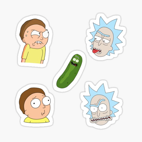 Rick and Morty set Sticker