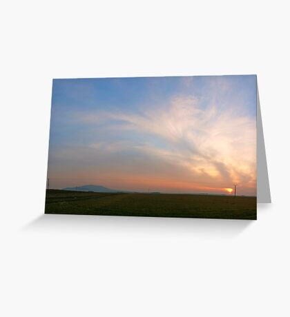 Early spring sunset Greeting Card