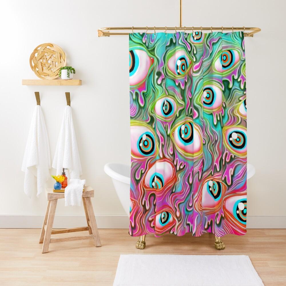 Eyeball Pattern - Color Alt Shower Curtain