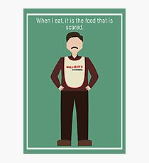 "Ron Swanson: ""When I Eat"" Photographic Print"