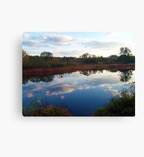 Mirror, Mirror ~~ Ringwood Mill Pond, Ringwood NJ Canvas Print