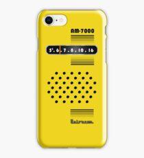 Transistor Radio - 70's Yellow iPhone Case/Skin