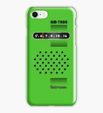 Transistor Radio - 70's Green iPhone Case/Skin