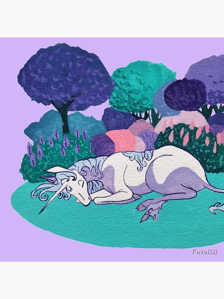 Sleeping Unicorn by Fave101