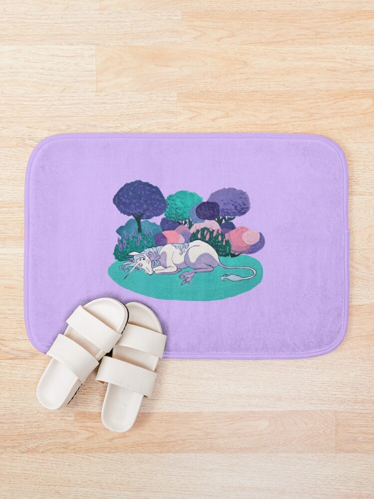 Alternate view of Sleeping Unicorn Bath Mat