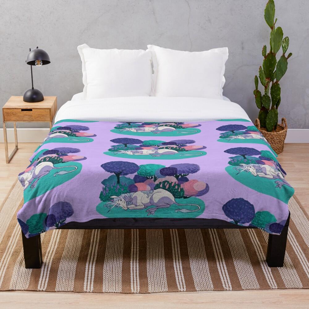 Sleeping Unicorn Throw Blanket