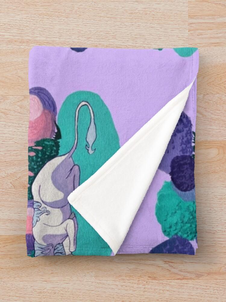 Alternate view of Sleeping Unicorn Throw Blanket