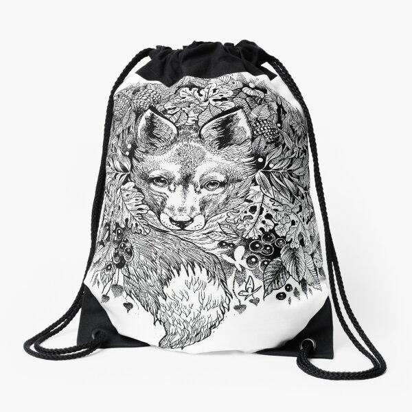 Hidden fox  Drawstring Bag