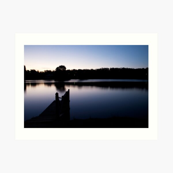 Dusk over Lake Daylesford Art Print
