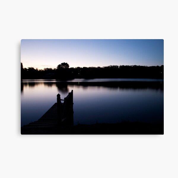 Dusk over Lake Daylesford Canvas Print