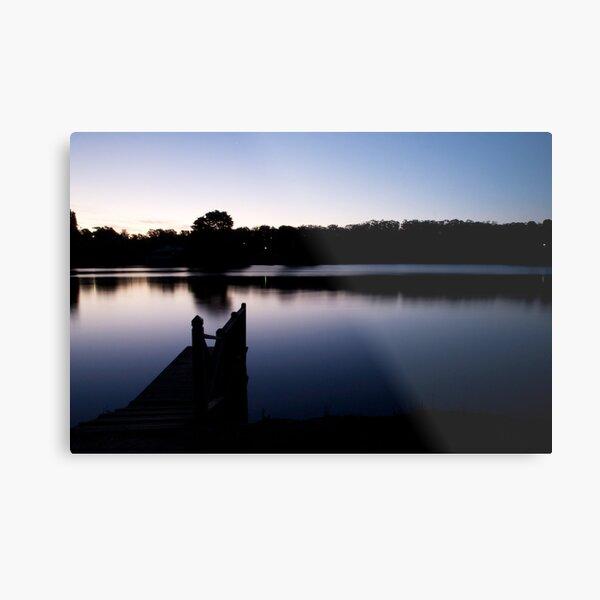 Dusk over Lake Daylesford Metal Print