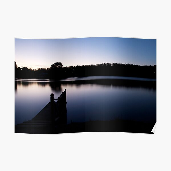 Dusk over Lake Daylesford Poster
