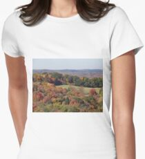 Colorful countryside Women's Fitted T-Shirt