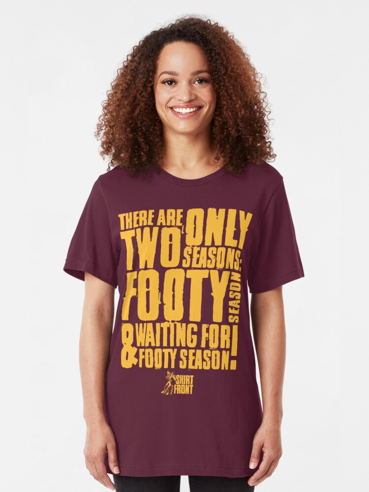 Alternate view of Two Seasons: Gold on Maroon Slim Fit T-Shirt
