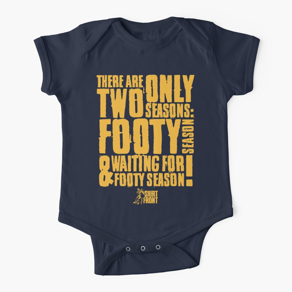 Kids Two Seasons: Gold on Navy Baby One-Piece