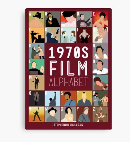 1970s Film Alphabet Canvas Print