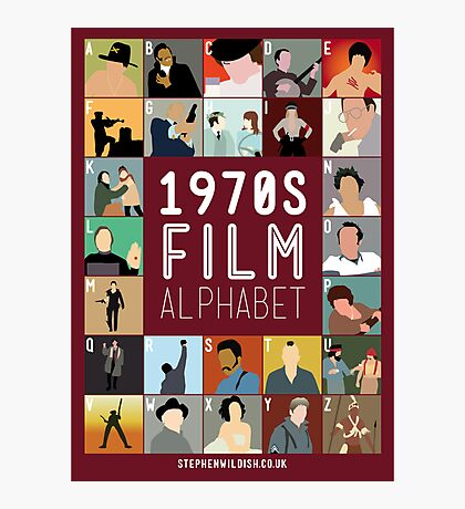 1970s Film Alphabet Photographic Print