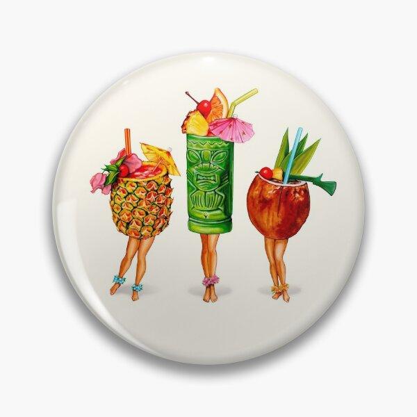 Tiki Cocktail Pin-Ups Pin