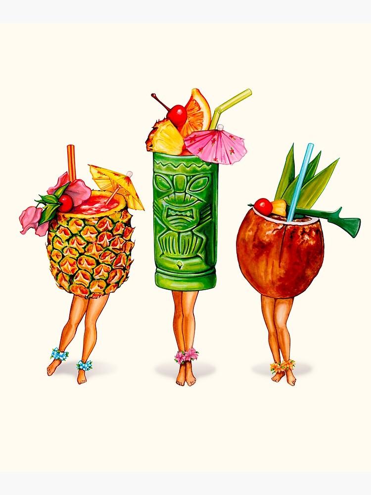 Tiki Cocktail Pin-Ups by KellyGilleran