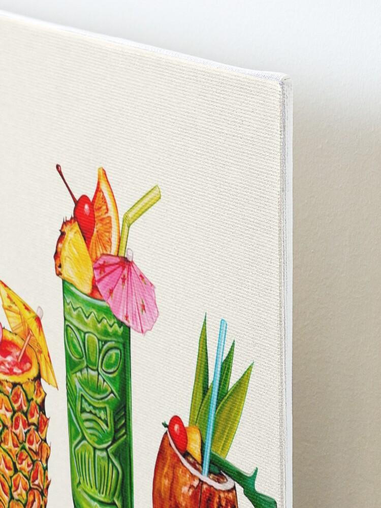 Alternate view of Tiki Cocktail Pin-Ups Mounted Print