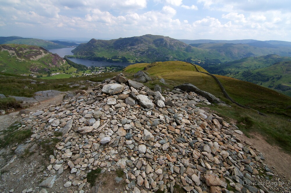 Finding Your Way - Helvellyn Cairn by Duncan Payne