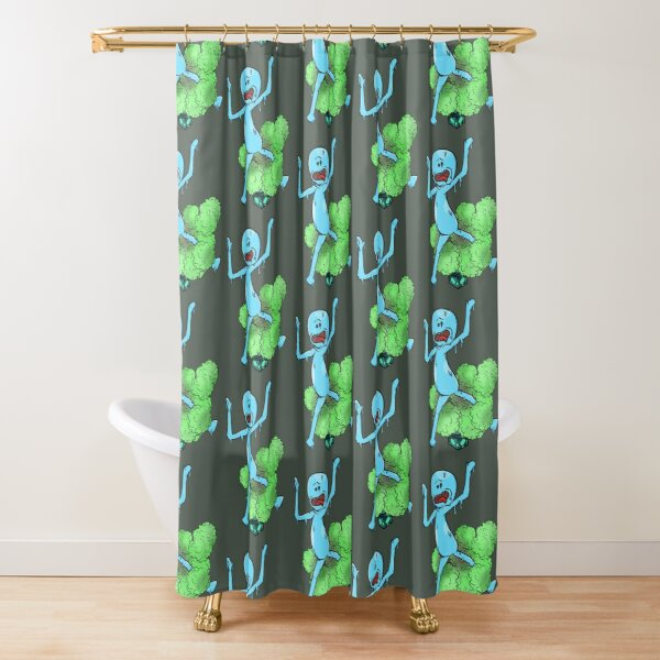 Mr Meeseeks Box Shower Curtain