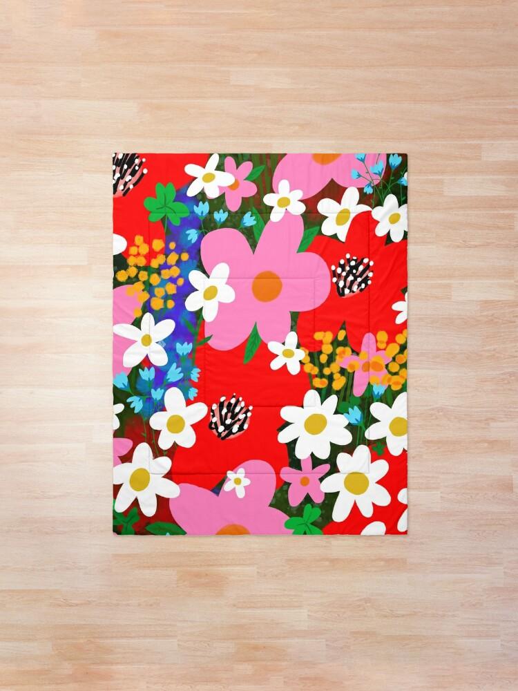 Alternate view of Flower Power! Comforter