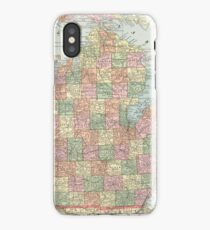 Vintage Map of Michigan (1901) 2 iPhone Case
