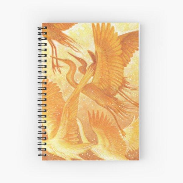 Golden Flight Spiral Notebook