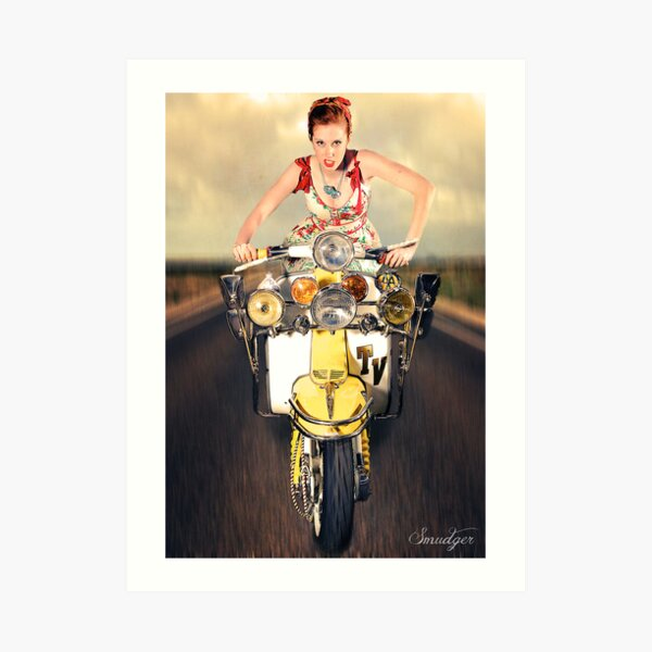 Lambretta Girl Art Print
