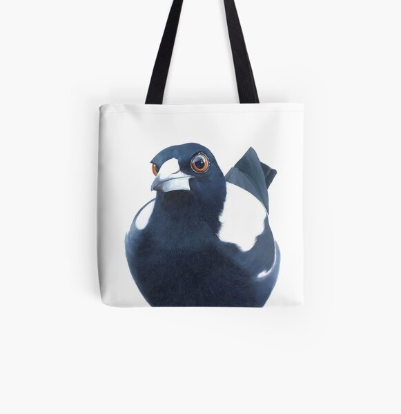 Curious Magpie All Over Print Tote Bag