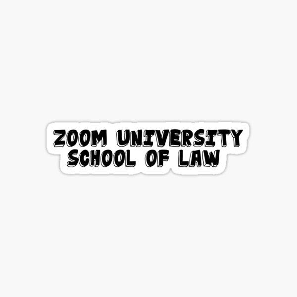 Zoom School Sticker