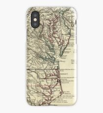 Vintage Map of The Mid Atlantic States (1778) iPhone Case