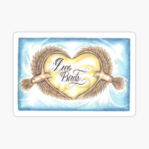005. Love Birds Sticker
