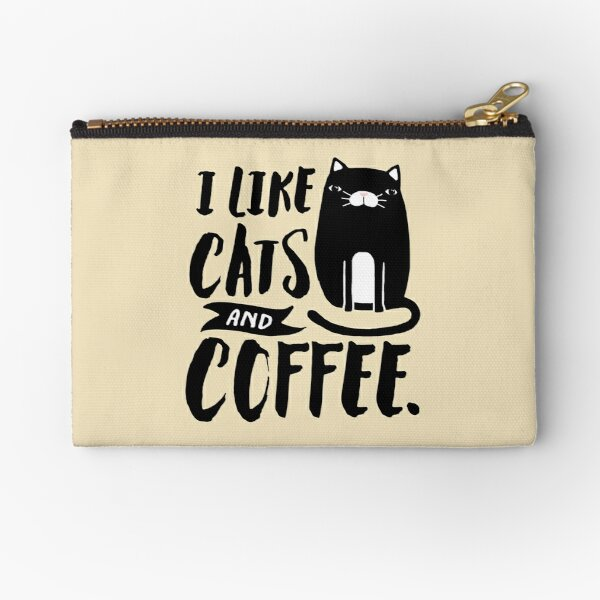 I Like Cats and Coffee Zipper Pouch